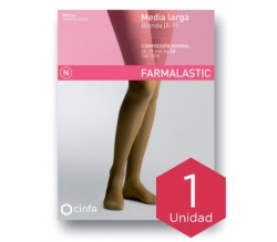 Farmalastic media larga blonda (A-F) comp. normal T-extra grande camel 1ud