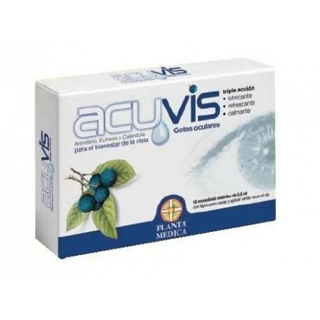 ACUVIS GOTAS OCULARES ESTERILES MONODOSIS 0.5 ML 10 U