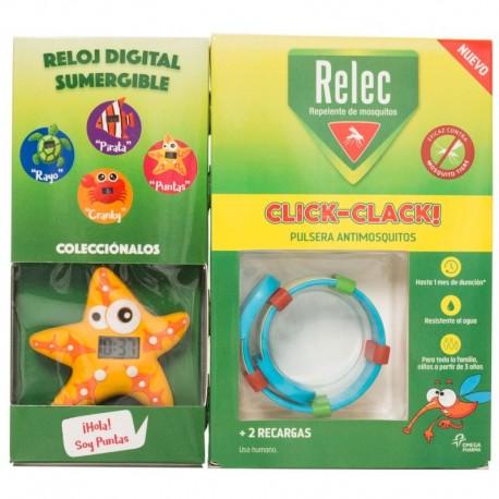 Relec Recarga Click-Clack Pulsera + Reloj Estrella