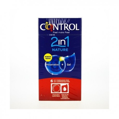 CONTROL 2IN1 NATURE PRESERVATIVO + GEL 6 KIT