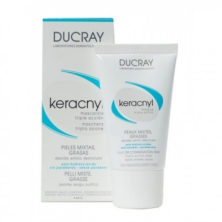 ducray keracnyl mascarilla triple accion 40 ml