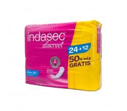 Indasec Discreet Normal 24 + 12 ud