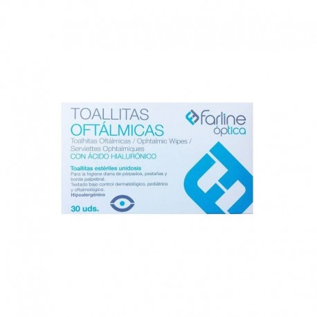 Farline Toallitas Oftálmicas con Ácido Hialurónico