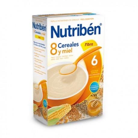 nutriben 8 cereales y miel fibra 600 gr.