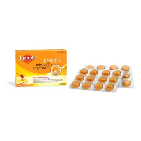 juanola propolis miel-limon 24 pastillas