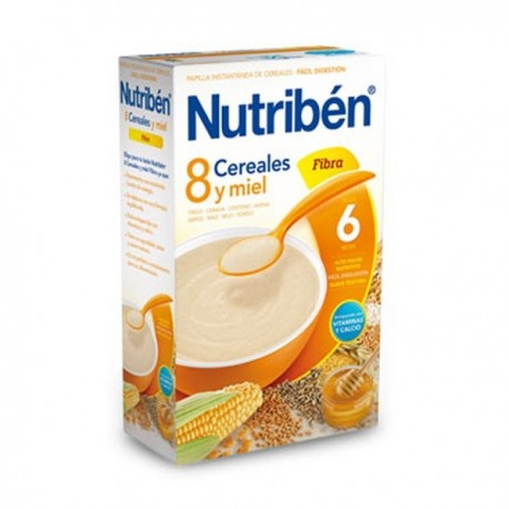 nutriben 8 cereales y miel fibra 300 gr.