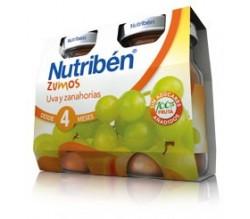 nutriben zumo de uva y zanahoria 2x130ml