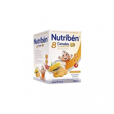Nutriben Papilla 8 Cereales Toque De Miel Y Galletas Maria Lata