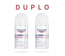 Pack 2x Eucerin Desodorante Piel Sensible Roll-On 24h