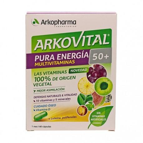 Arkovital Pura Energia Multivitaminas 50+ 60 Capsulas
