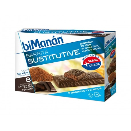 bimanan barrita chocolate intenso 40 g 8 bar