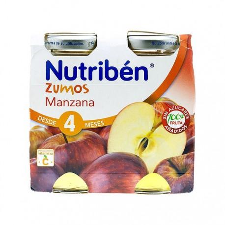 nutriben zumo de manzana 2x130 ml.
