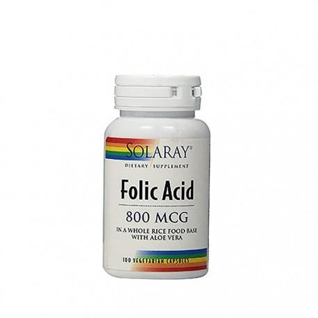 Solaray ácido fólico 800mg 100cáps