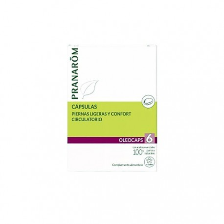 Pranarôm Oleocaps 6 Confort Circulatorio 30cáps