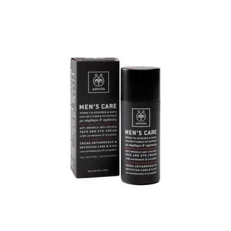 MENS CARE Crema facial y de contorno de ojos antiarrugas y anti-fatiga