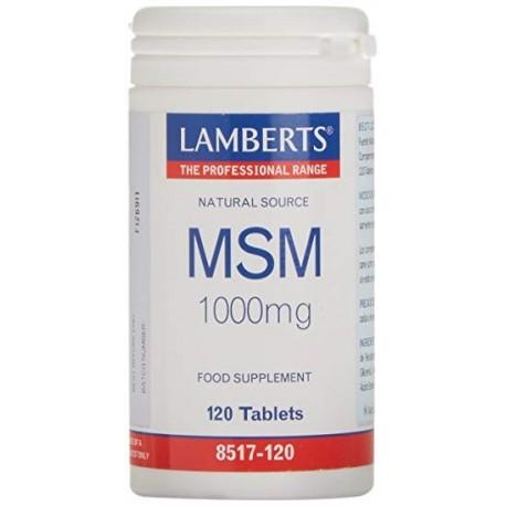 Lamberts MSM 1000mg 120tabletas