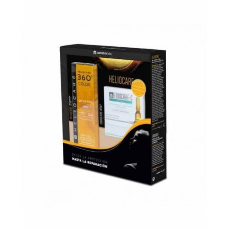 Heliocare 360 Gel Oil Free Beige SPF50 50ml + Endocare C Oil Free 7 Ampollas